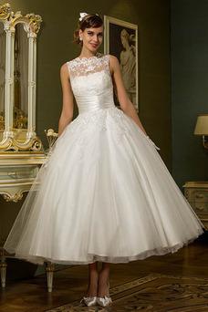 Robe de mariée Tissu Dentelle Longueur Cheville Glamour Bouton Taille Naturel