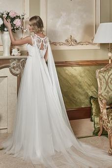 Robe de mariée Sans Manches De plein air Appliques A-ligne Longue