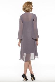 Robe mère de mariée Larges Bretelles Fourreau Ample & Ornée Taille Naturel