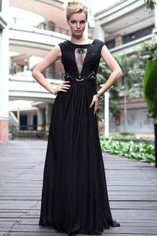 Robe de soirée Noire Longue Sexy Fourreau Triangle Inversé Printemps