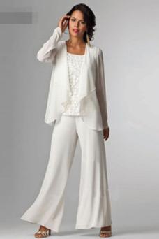 Robe mère de mariée Haute Couvert Elégant Manche de T-shirt Printemps Dentelle