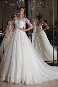 Robe de mariée Tulle Taille Naturel Mode de Bal Appliques Printemps