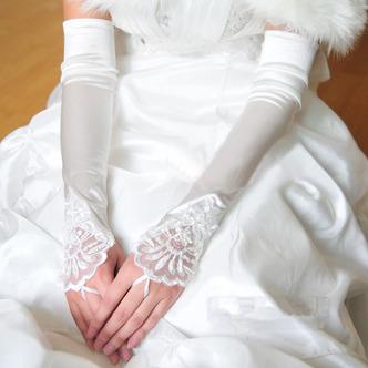 Gant de mariage Blanc Plage Printemps Appliques Épais Vintage - Page 1