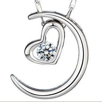 Vente en forme de coeur d'électrodéposition décoration chaude collier en argent - Page 1
