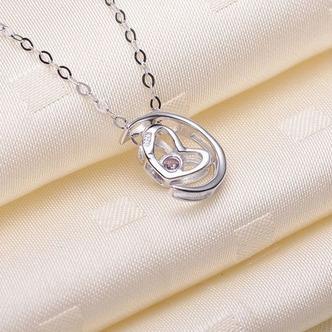 Vente en forme de coeur d'électrodéposition décoration chaude collier en argent - Page 3