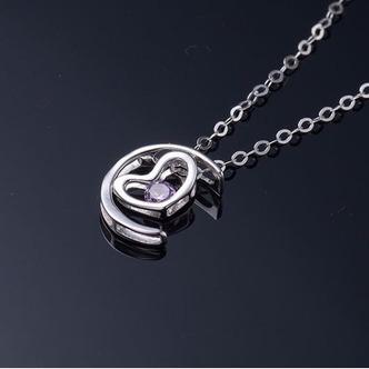 Vente en forme de coeur d'électrodéposition décoration chaude collier en argent - Page 4
