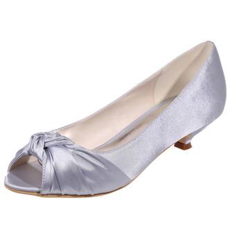 Chaussures de mariée chaussures de mariage bouche de poisson chaussures de soirée en satin - Page 5