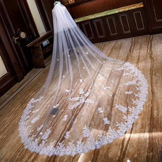 Voile de mariée long voile de dentelle voile de queue de mariage - Page 3