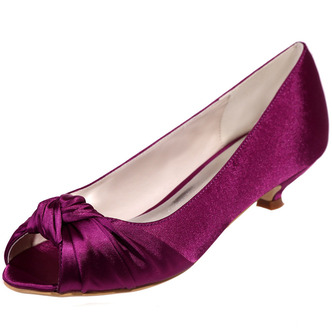 Chaussures de mariée chaussures de mariage bouche de poisson chaussures de soirée en satin - Page 4