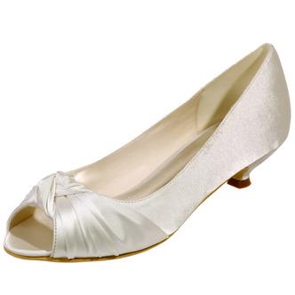 Chaussures de mariée chaussures de mariage bouche de poisson chaussures de soirée en satin - Page 1