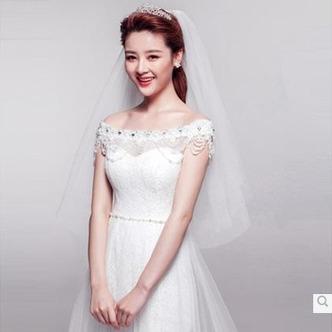 Voile de mariage Blanc Avec Peigne La taille peut être personnalisée - Page 5