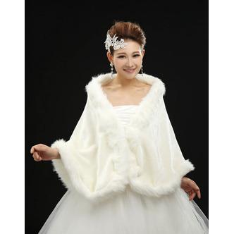 Châle de mariage Crystal Floral Pin Automne Épais Grandes places Blanc - Page 1