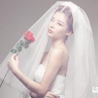 Voile de mariage Blanc Avec Peigne La taille peut être personnalisée - Page 4