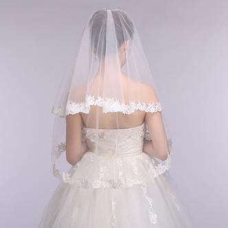 Voile de mariage Printemps Blanc Formelle Appliques Court La taille peut être personnalisée - Page 5