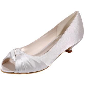 Chaussures de mariée chaussures de mariage bouche de poisson chaussures de soirée en satin - Page 2