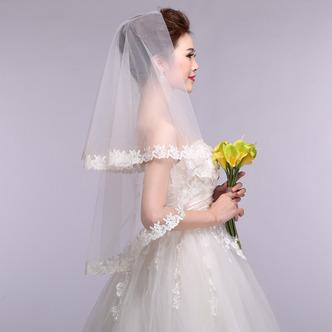 Voile de mariage Printemps Blanc Formelle Appliques Court La taille peut être personnalisée - Page 4