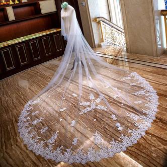Voile de mariée long voile de dentelle voile de queue de mariage - Page 1