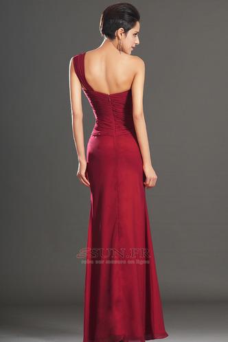Robe de soirée Rouge Elégant Fourreau plissé Plissé Sans Manches - Page 5