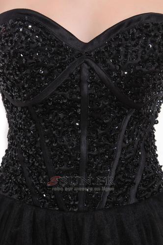Robe de bal Satin Rectangulaire Princesse Été Milieu Couvert de Tulle - Page 6