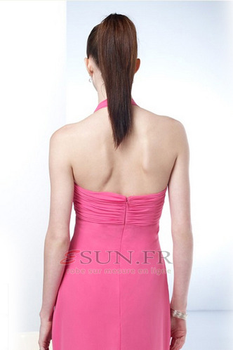 Robe de soirée Mousseline Fourreau plissé Manquant Ruché Longueur ras du Sol - Page 3