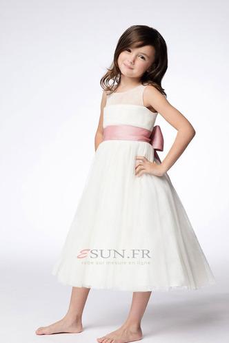 Robe cérémonie fille Princesse Été Orné de Nœud à Boucle Milieu Taille Naturel - Page 1