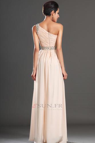Robe habillée pour mariage Thigh-High Slit Pomme Épaule Asymétrique Zip Taille Naturel - Page 6